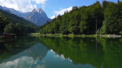 Riessersee lake, garmisch-partenkirchen Stock Footage