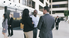 Large group of businessmen and businesswomen in the city - stock footage