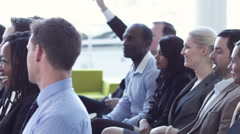 Business presentation seminar event. High quality HD video footage - stock footage