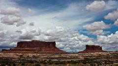 Utah Mesa in Canyon Lands National Park -  4K Stock Footage