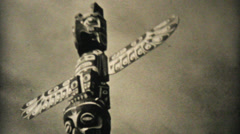 Icebergs And Totem Poles In Alaska-1940 Vintage 8mm film Stock Footage