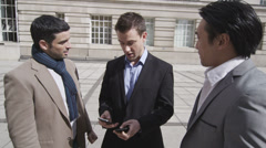 Good news worth celebrating. Young attractive male friends excited and happy. . Stock Footage