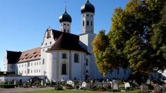 Monastery Benediktbeuern Stock Footage