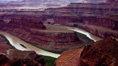 Time Lapse of the Colorado River Canyonlands -  4K - stock footage