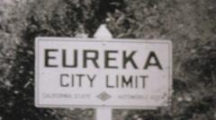 Leaving Eureka California Entering Oregon-1940 Vintage 8mm film Stock Footage