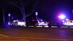 Poliisi etsiminen Vehicle Arkistovideo