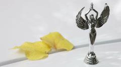 Female figurine Stock Footage