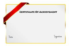 Certificate Of Achievement Diploma Of Excellence Stock Illustration
