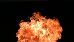 Firebreather, slow motion Stock Footage