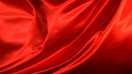 Stock Video Footage of Red silk fabric blowing in the wind