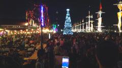 Loy Krathong festival  in Bangkok, Thailand. Stock Footage