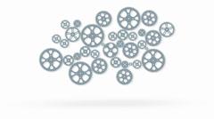 Loop animoitu vaihdetta animaatio Arkistovideo
