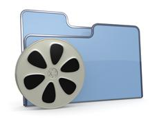 Folder icon movies Stock Illustration