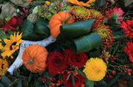 Stock Photo of thanksgiving floral decorations