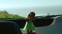 Hula Dancer Dashboard Bobblehead Stock Footage