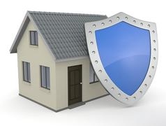 protect the house - stock illustration