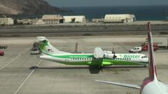 Binter Airlines at Aeropuerto de Gando in Gran Canaria Stock Footage