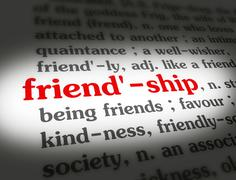 Dictionary - Friendship - Red On White - stock illustration