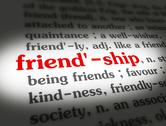 Stock Illustration of Dictionary - Friendship - Red On White