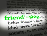 Stock Illustration of Dictionary - Friendship - Green On White
