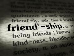 Dictionary - Friendship - Black On BG - stock illustration