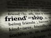 Stock Illustration of Dictionary - Friendship - Black On BG