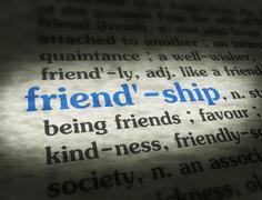 Dictionary - Friendship - Blue On BG - stock illustration