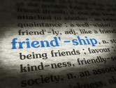Stock Illustration of Dictionary - Friendship - Blue On BG