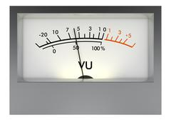 Analog vu meter Stock Illustration