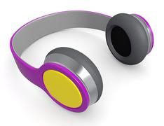 headphones - stock illustration