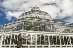 victorian palm house - stock photo