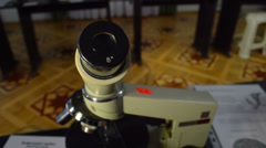 Microscope Stock Footage