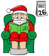 Santa claus after work Stock Illustration