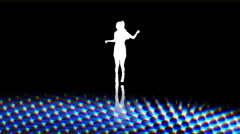Animated dancer with funky cool background. High quality HD video footage Stock Footage