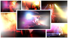 Colorful video montage - Young people in the club, partying the night away. High - stock footage