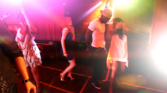 Young people in the club, partying and enjoying the nightlife. High quality HD - stock footage