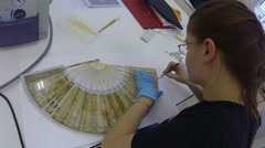 Fan restorer Stock Footage