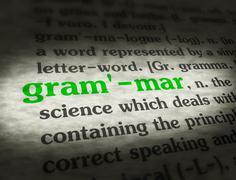 Dictionary - Grammar - Green On BG Stock Illustration