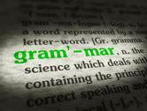 Stock Illustration of Dictionary - Grammar - Green On BG