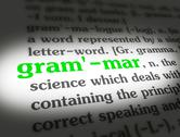 Stock Photo of Dictionary - Grammar - Green On White