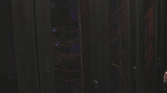 IT business data center servers. Working in computer server room data center. - stock footage