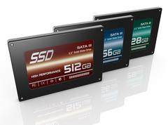 Solid state drives Stock Illustration