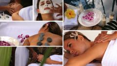 Tropical spa & Beauty, video montage - stock footage
