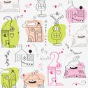 Stock Illustration of seamless pattern with  surreal houses
