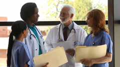 Group of medical professionals Stock Footage
