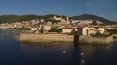 Stock Video Footage of aerial corsica ajaccio harbor