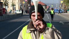 Demonstrations Of Workers Stock Footage