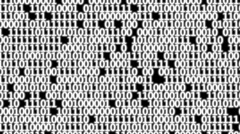 Frame full of binary code. Stock Footage