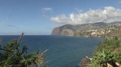 Madeira coastline and atlantic ocean Stock Footage