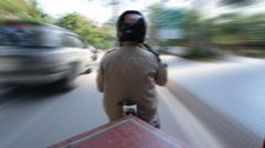 Tuk tuk timlapse cambodia Stock Footage